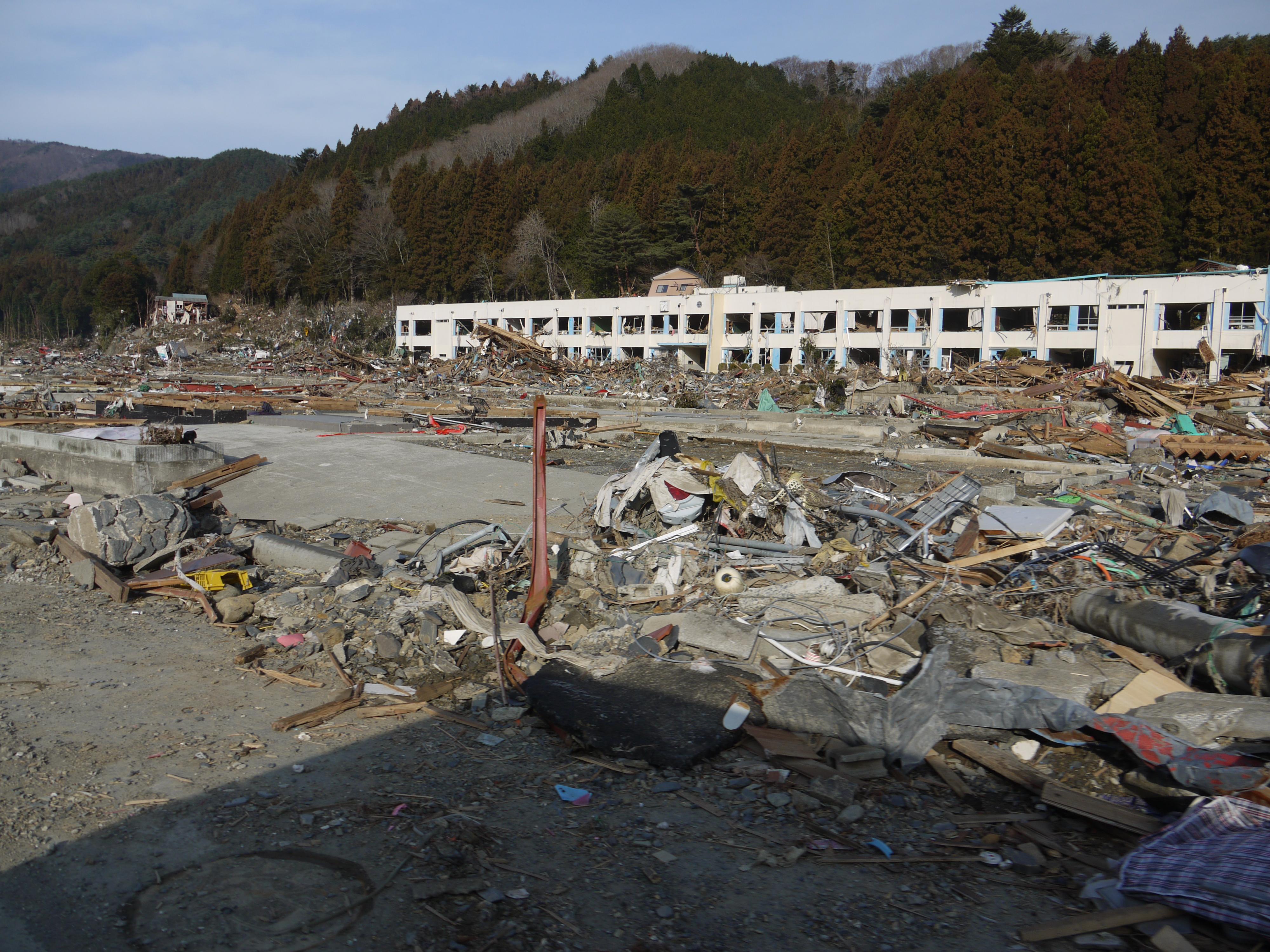 被災地・雄勝町の光景